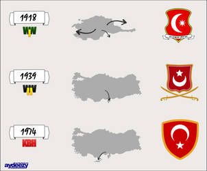 Turkey between 1918 and 1974 by AY-Deezy