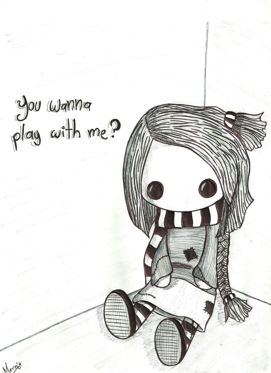 my rag doll by ... Rag Doll Drawing