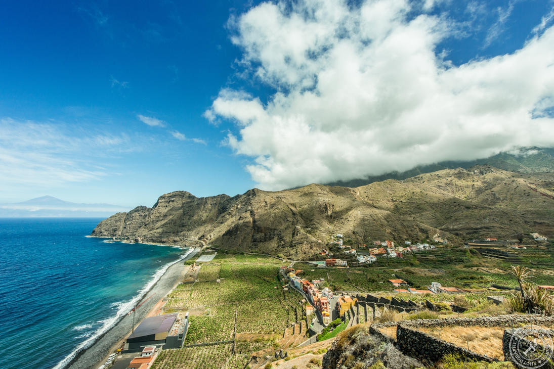 The north coast of La Gomera by BlackSunRising