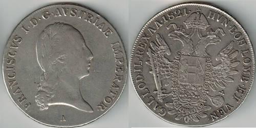 Kaiser Franz I Austrian Empire Thaler 1821