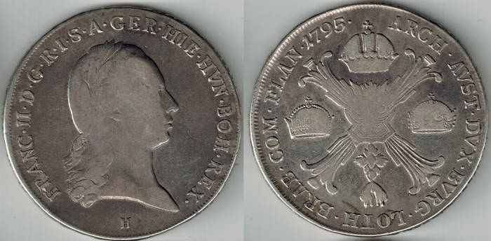 Kaiser Franz I Holy Roman Empire Kronerthaler 1795