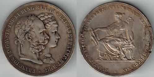 Austria-Hungary 2 gulden (Florin) 1879