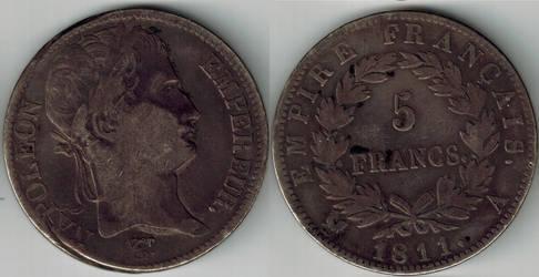 Empire of France 1811 Napoleon I 5 francs
