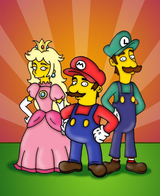 Mario, Luigi and Princess by orl-graphics