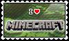 I LOVE Minecraft Stamp