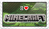 I LOVE Minecraft Stamp by black--werewolf