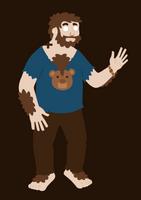 Monkey Bear by black--werewolf
