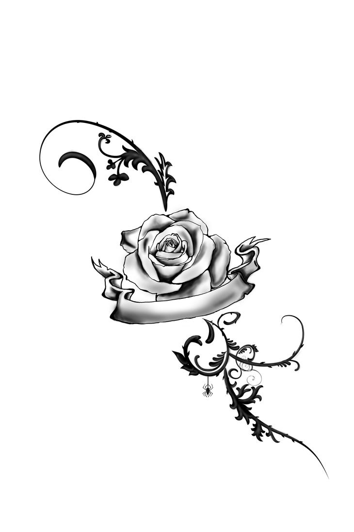 foot tattoo rose by juliavonmorque on deviantart. Black Bedroom Furniture Sets. Home Design Ideas