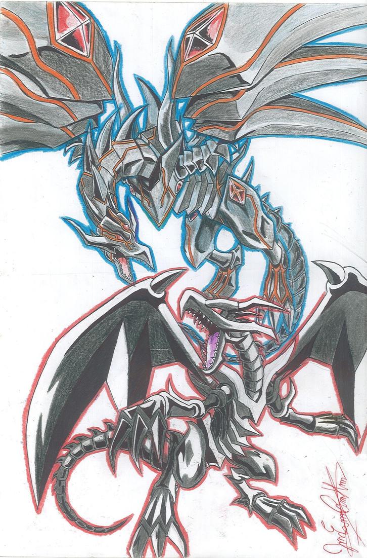 redeyes black dragon and redeyes darkness dragon by