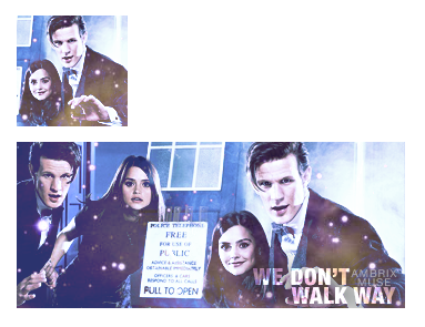 The Doctor and Clara (set avatar + firma) by AmbrixMUSE