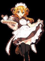 Cafe Waitress by Major-Kusinagi