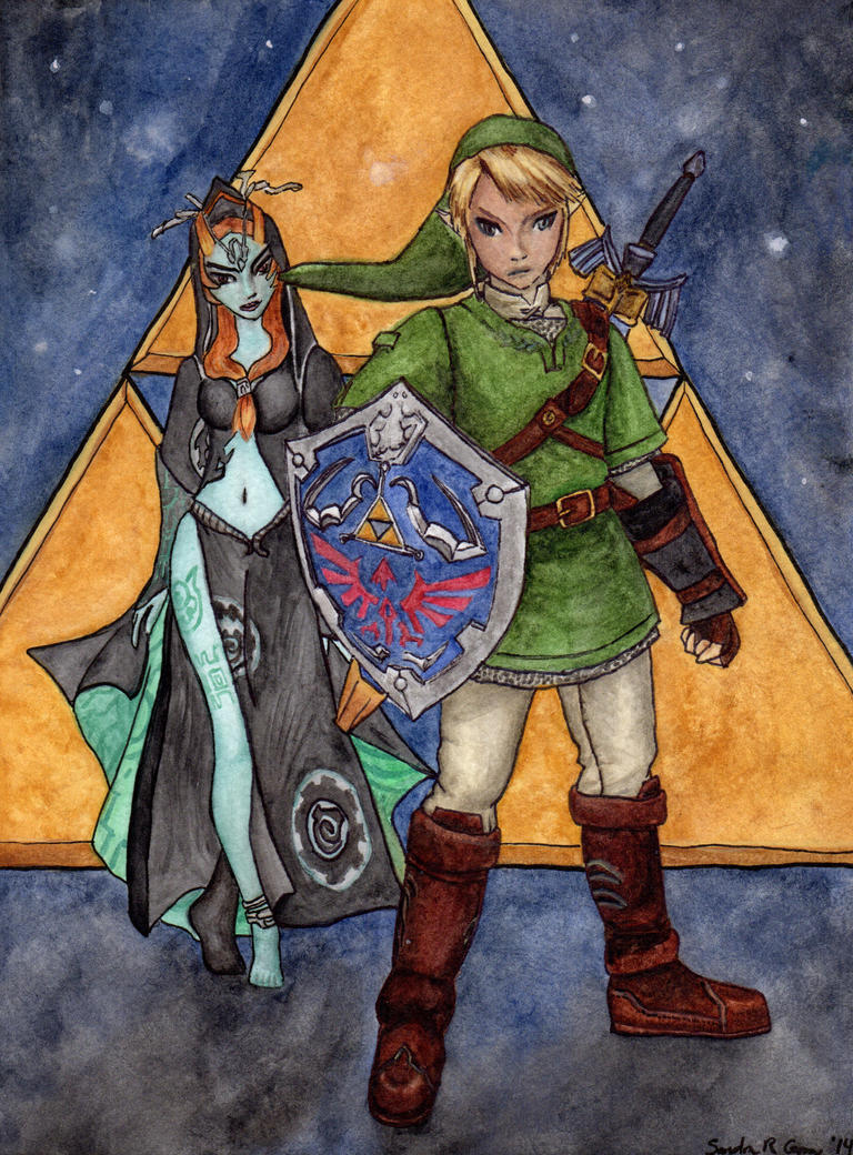 Link and Midna by OcelotDesigns