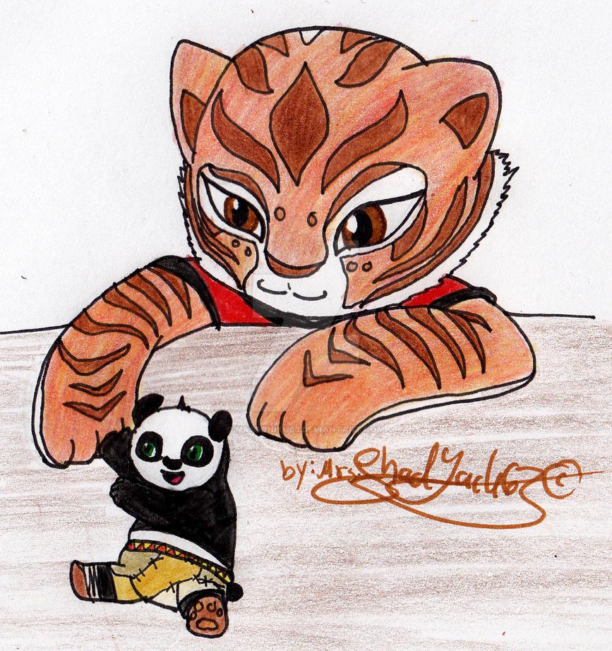 Po and Tigress - Valentine by kreazea on DeviantArt