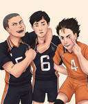 Tanaka, Ennoshita, and Nishinoya by taylorssart