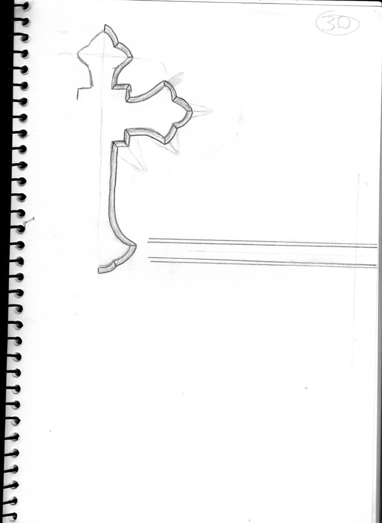 christian cross sketches - photo #14