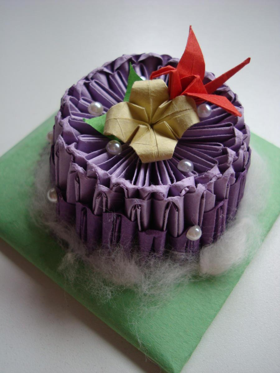 Origami Cake by mizzy-azn on DeviantArt - photo#10