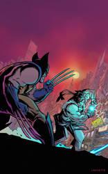 Marvel vs. Capcom: Wolverine vs. Ryu by MikeLancetteArt