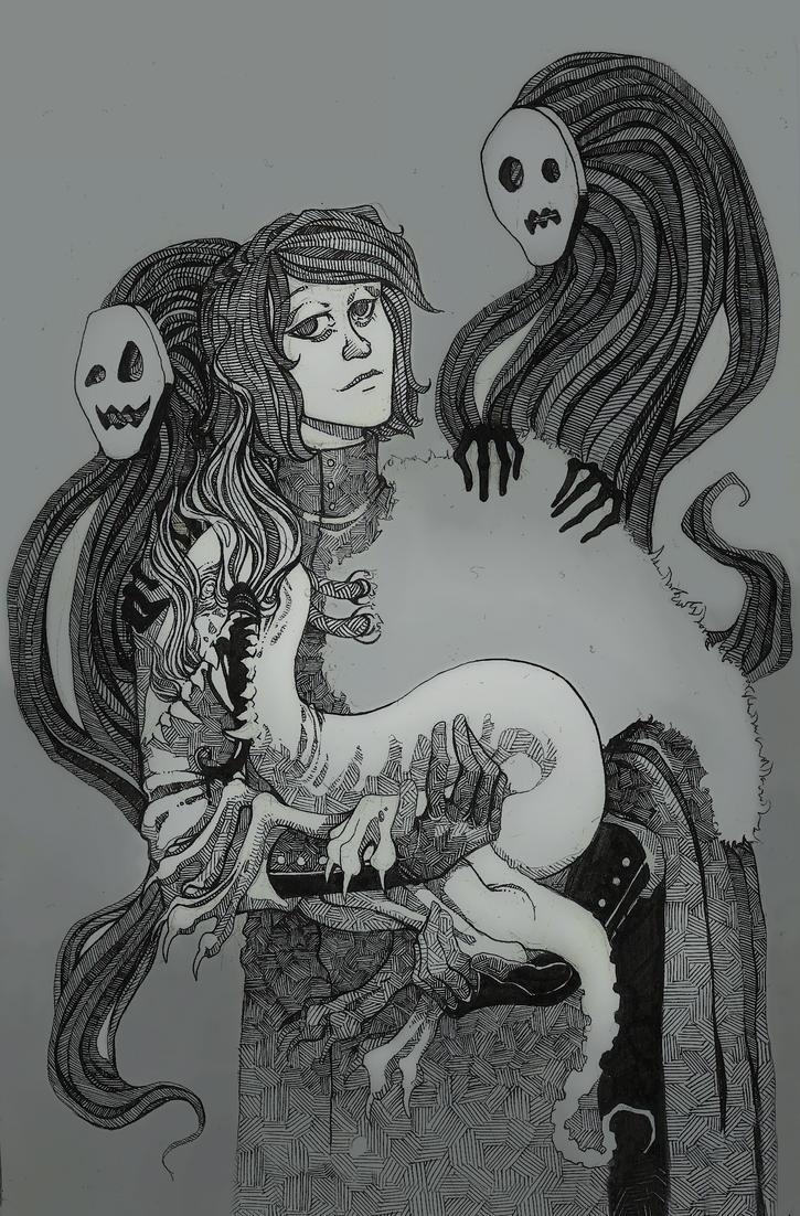 Portrait with familiar. by Margot-san