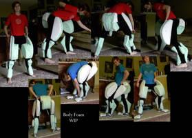 Nora Ceberus Quadsuit body foaming wip2 by 10kk