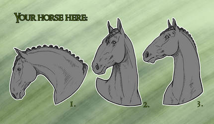YHH: Simple beauty of draft horses stickers - OPEN