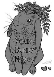 YCHH: Floral Bunny - OPEN