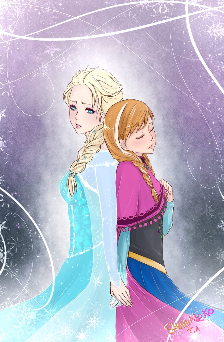 Frozen : Elsa and Anna by ShaniNeko