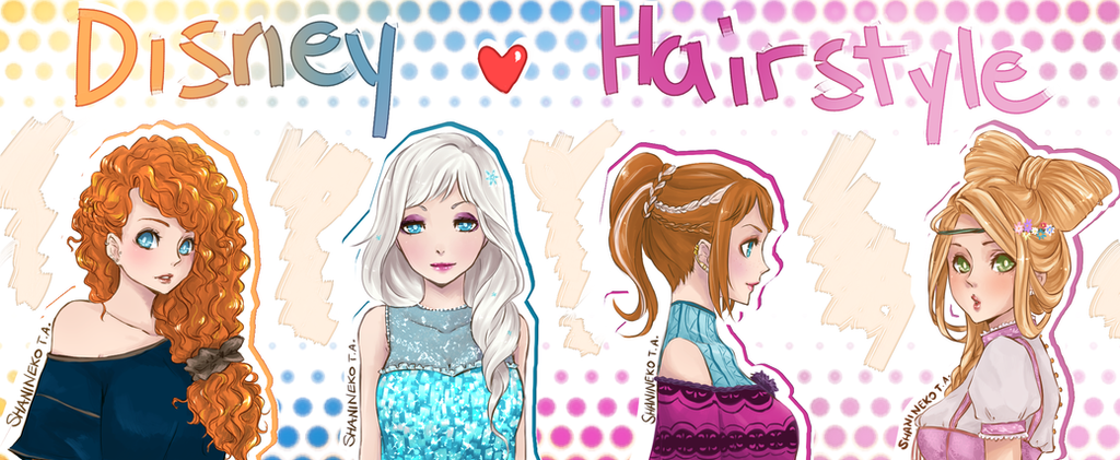 Disney Hairstyle by ShaniNeko