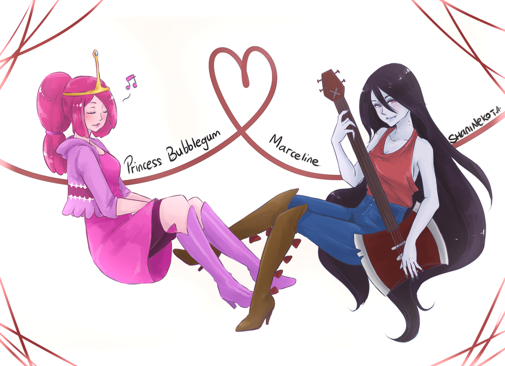at princess bubblegum and marceline by shanineko on