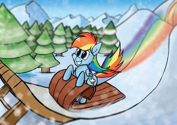 Rainbow Dashing through the snow ^_^