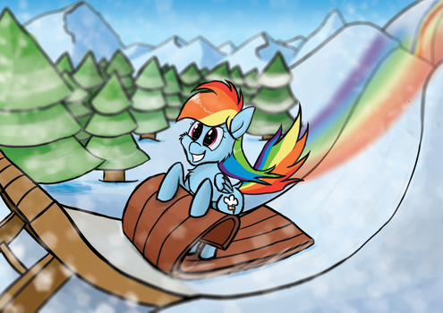 Rainbow Dashing through the snow ^_^