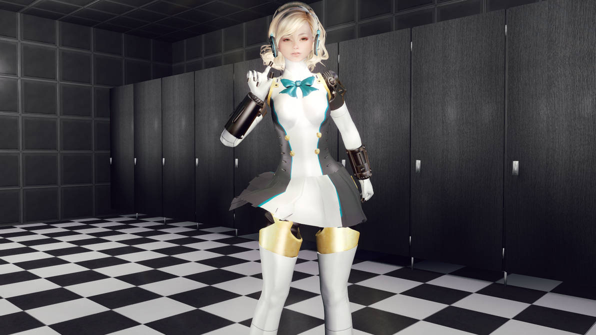 Aigis Armor Dancing Moon Night  By Alexandroo2014 by Alexsandroo2014