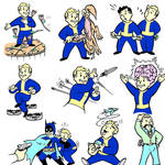 Fallout Vault boys colored