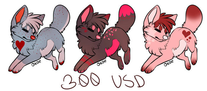 Valentine's Day Treat Hearts ADOPTS (All SOLD)
