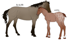 Mare and Foal Adoptables OPEN