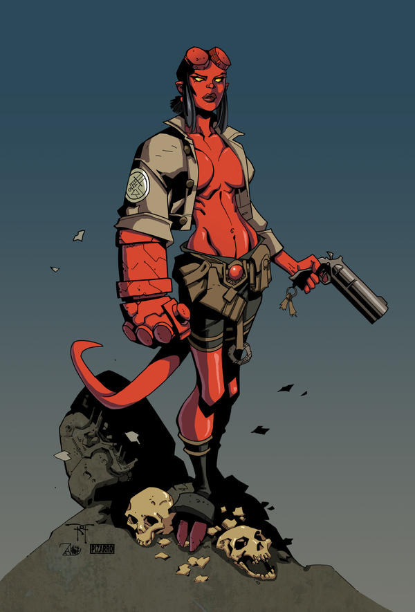 Hellgirl by RandyGreen by VPizarro626