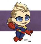 LittleBigHead CaptainMarvel by Kidnotorious