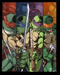 ninja turtles by Carlos Gomez