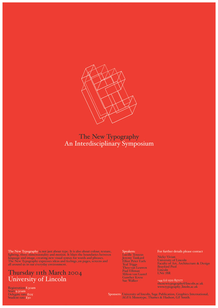 typography symposium posterone by newblood