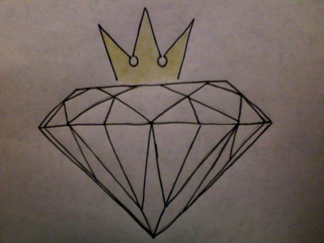Diamond Tattoo Sketch My diamond tattoo design by