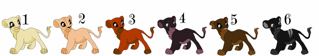 Outsider Lion Cub Adoptables [CLOSED] by makeradopts