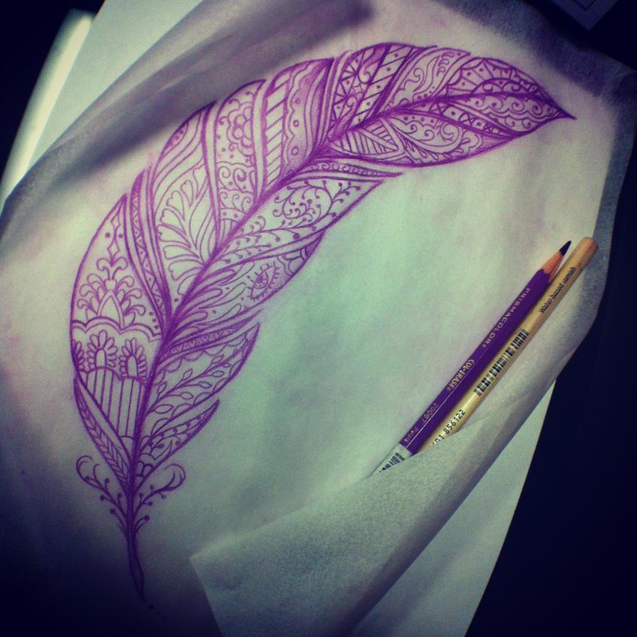 Henna Feather: Henna Feather By InkSlave84 On DeviantArt