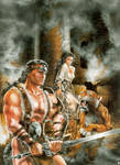 Conan and the tiger