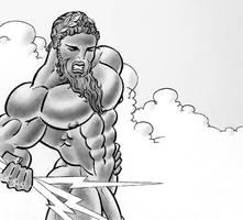 Zeus follows the fight