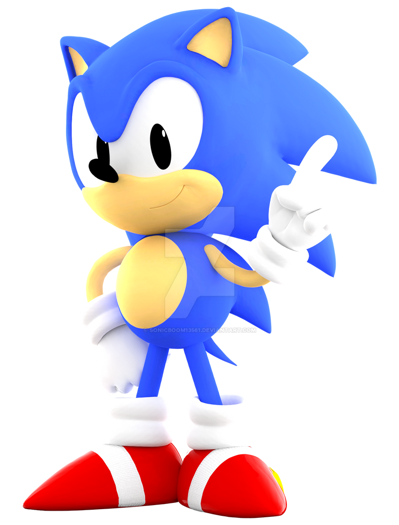 Blender Classic Sonic By Sonicboom13561 On Deviantart