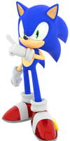 [Blender] Racing Transformed Sonic (Remake)