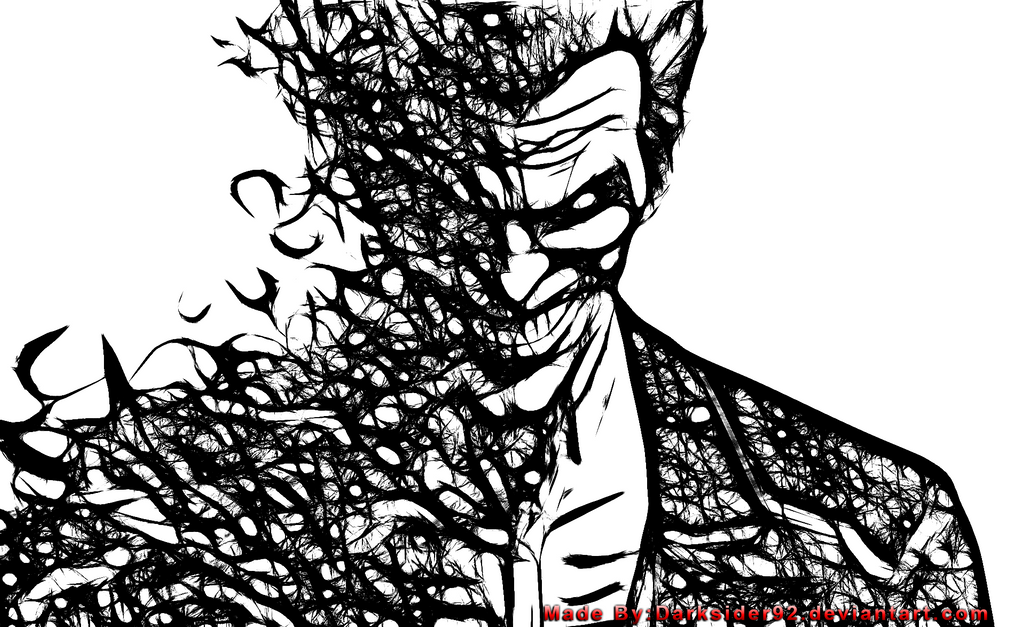 Batman arkham origins joker black n white by darksider92
