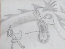 Hercules vs Hydra by alias-kanas