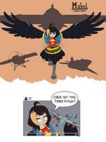 Mabel, raven harpy by PurpleKama