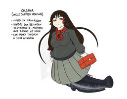 Oksana, Wels Catfish by PurpleKama