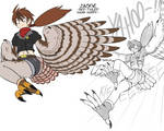 Jackie, red-tailed hawk harpy